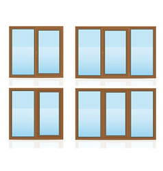 plastic window 10 vector image