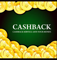 poster with gold coins cash - casino fortune and vector image