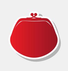 purse sign new year reddish vector image