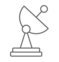 radar thin line icon tv and receiver satellite vector image