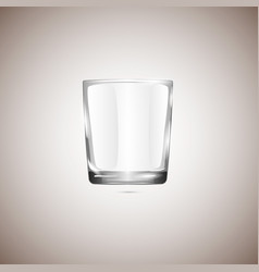Realistic empty glassful isolated on beige vector