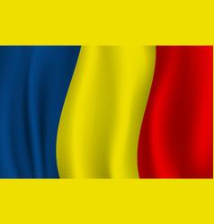 realistic wavy romanian flag romania symbol vector image
