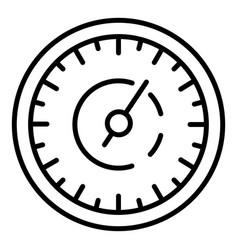 Retro speedometer icon outline style vector