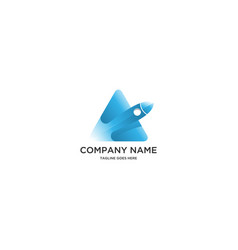 rocket launcher and triangle logo vector image