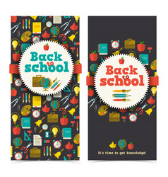 school vertical banners vector image
