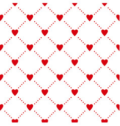 Seamless pattern with hearts casino gambling vector