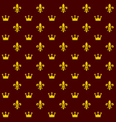seamless pattern with king crowns and royal vector image