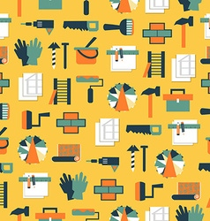 Seamless pattern working tools icons Home repair vector