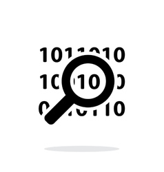 Security search icon on white background vector image