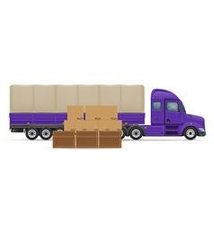 semi truck trailer concept 02 vector image