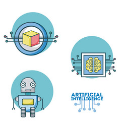 Set of artificial intelligence vector