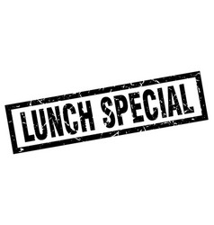 Square grunge black lunch special stamp vector