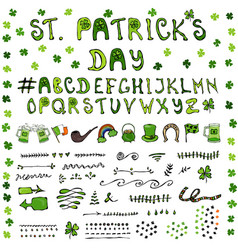st patrick s day hand drawing full collectoin vector image