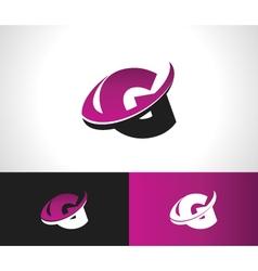 Swoosh alphabet icon g vector