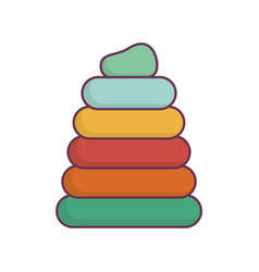 toy pile rings icon vector image