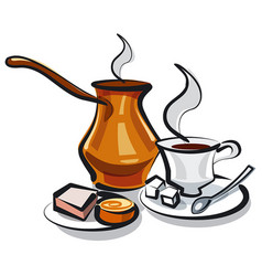 Traditional turkish coffee vector