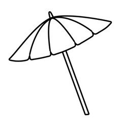 Umbrella cartoon in black and white vector
