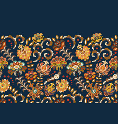 vintage flowers seamless background in provence vector image