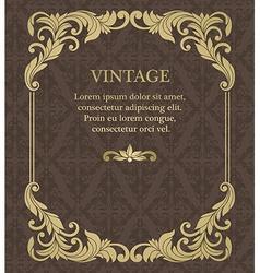 vintage invitation border and frame template vector image