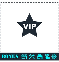 Vip star icon flat vector image vector image