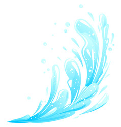 water splashes composition isolated vector image