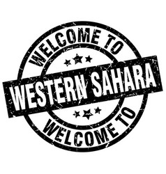 welcome to western sahara black stamp vector image