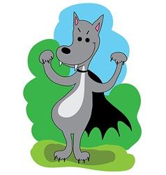wolf vampire vector image