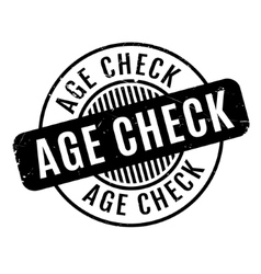 Age check rubber stamp vector
