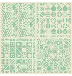 Geometric patterns set vector image vector image