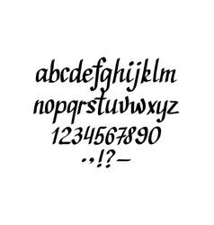 hand-written italic alphabet lowercase vector image