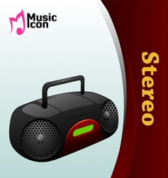 music stereo icon vector image