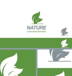 Nature Green Leaf Natural Organic Logo Concept vector image