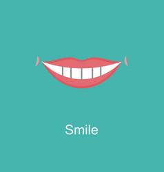 white teeth smile icon vector image vector image