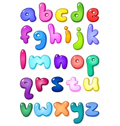 3d bubble lower case alphabet vector image vector image