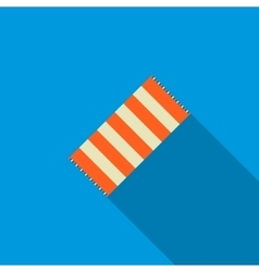 Beach towel icon flat style vector image