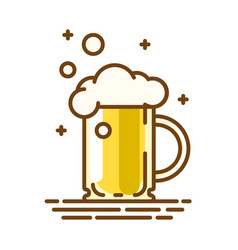 beer glass trendy flat linear icon line vector image vector image