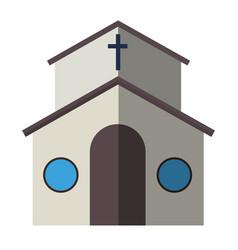 cartoon church facade vector image vector image