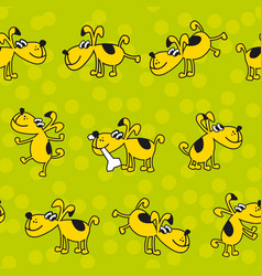 cute kid style dog pat seamless pattern vector image vector image