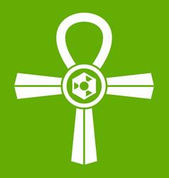 egypt ankh symbol icon green vector image