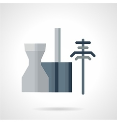 Power station flat icon vector image vector image