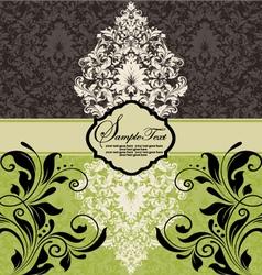 vintage damask invitation vector image