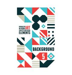 Abstract minimal poster vector
