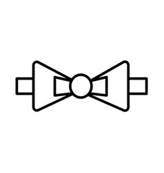 bow tie line icon sign on vector image vector image