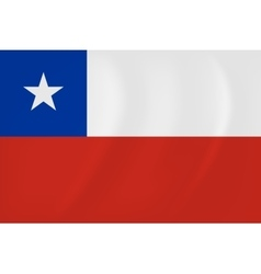 Chile waving flag vector image