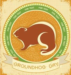 groundhog day grunge vector image vector image