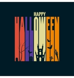 halloween background holiday design concept vector image