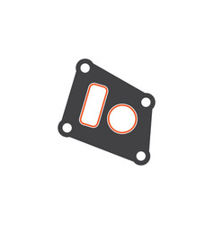 isolated packing flat icon gasket element vector image