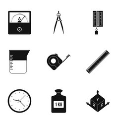measure instrumentation icon set simple style vector image vector image