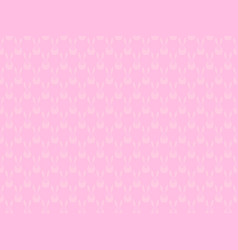 seamless pattern with bunnies on a pink vector image