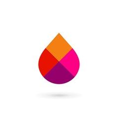 Water drop symbol mosaic logo design template icon vector